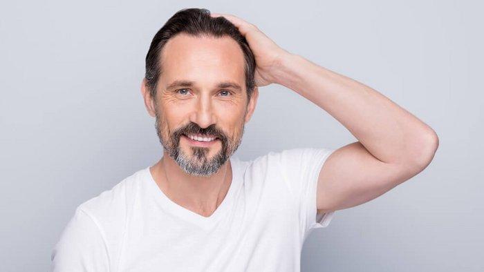 Haare männer graue Graue Haare